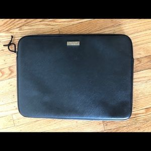 """Kate Spade 14"""" Leather Laptop Sleeve, As-is"""